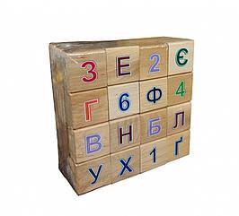 Азбука дерев'яна кольорова 11201