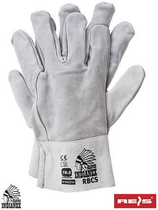Защитные перчатки из яловой кожи RBCS JS, фото 2