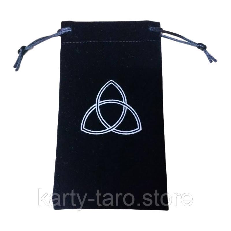 Чорний Оксамитовий мішок для карт Таро 11.5*18 СМ