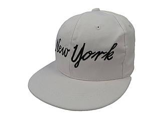 Кепка Snapback New York белая с черным логотипом