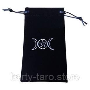 Черный Бархатный мешок для карт Таро 11.5*18 СМ