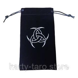Черный Бархатный мешок для карт Таро 10*18 СМ