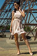 Летнее платье Авиньон приталенного кроя с воланами 42-46 размер разные цвета