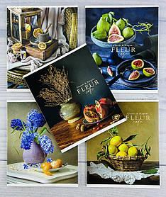 Зошит 48 аркушів клітинка Fleur 2852(48к) Школярик Україна