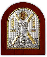 Святой Андрей Первозванный Икона  Серебряная с позолотой Silver Axion (Греция)  85 х 100 мм