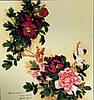 Принт для художественной вышивки -  Цветы в японском стиле