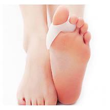 Двойные Гелевые накладки Valgus Pro для коррекции больших пальцев стопы (Валгус Про) - 2 штуки, фото 2