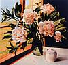 Принт для художественной вышивки - Пионы в вазе-2