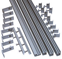 Комплект для крепления 4 панелей 240...250...260 Вт [ 1кВт ]на скат крыши из шифера или металлочерепицы