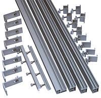 Комплект для крепления 4 панелей 250...340 Вт на скат крыши из шифера или металлочерепицы