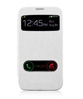 Белый чехол-книжка с окошками к Samsung Galaxy S3 и S3 duos