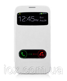 Белый чехол-книжка с окошками к Samsung Galaxy S3 и S3 duos , фото 1