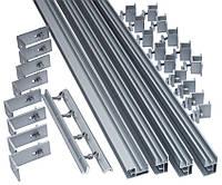 Комплект для крепления пяти панелей 100/120/150Вт на скат крыши из шифера или металлочерепицы