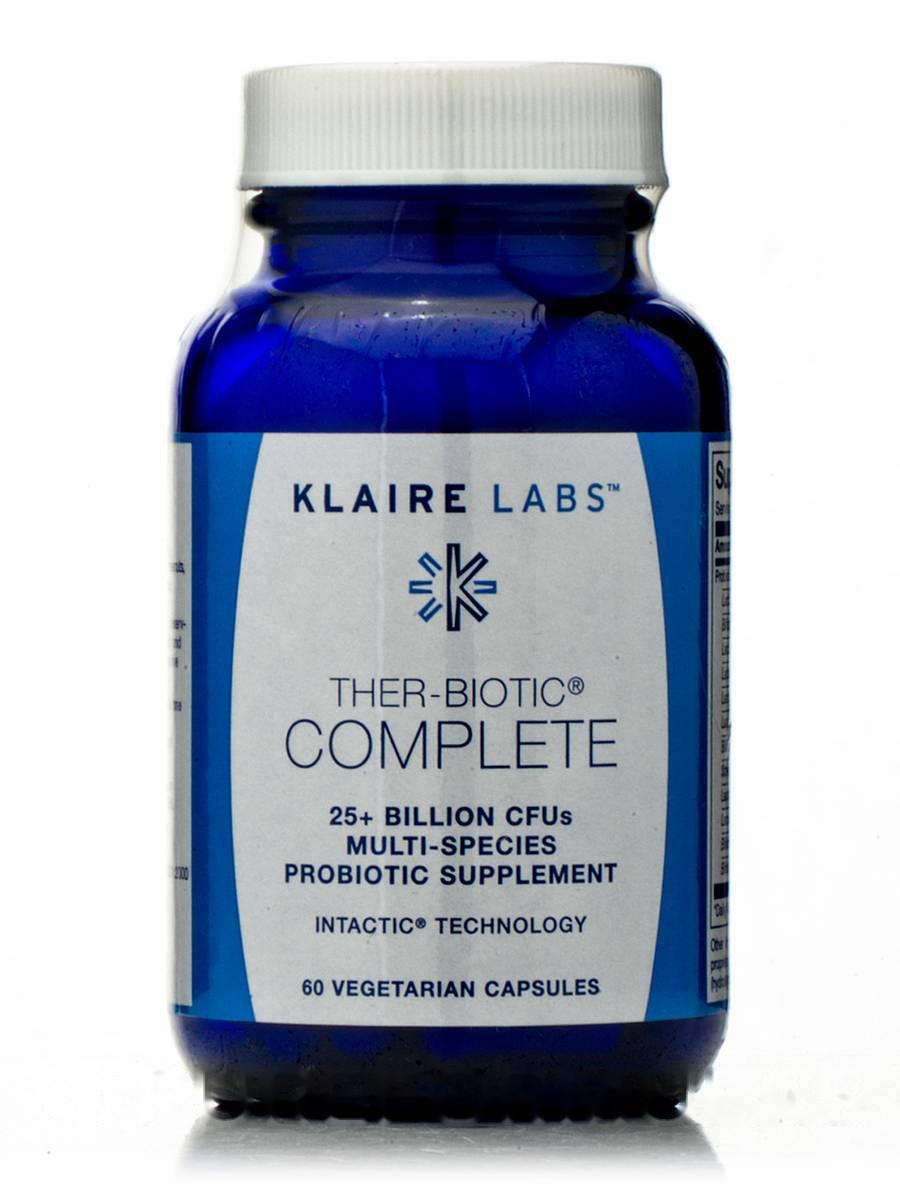 Зеа-Биотик Комплекс, Ther-Biotic Complete, Klaire Labs, 60 Вегетарианских Капсул