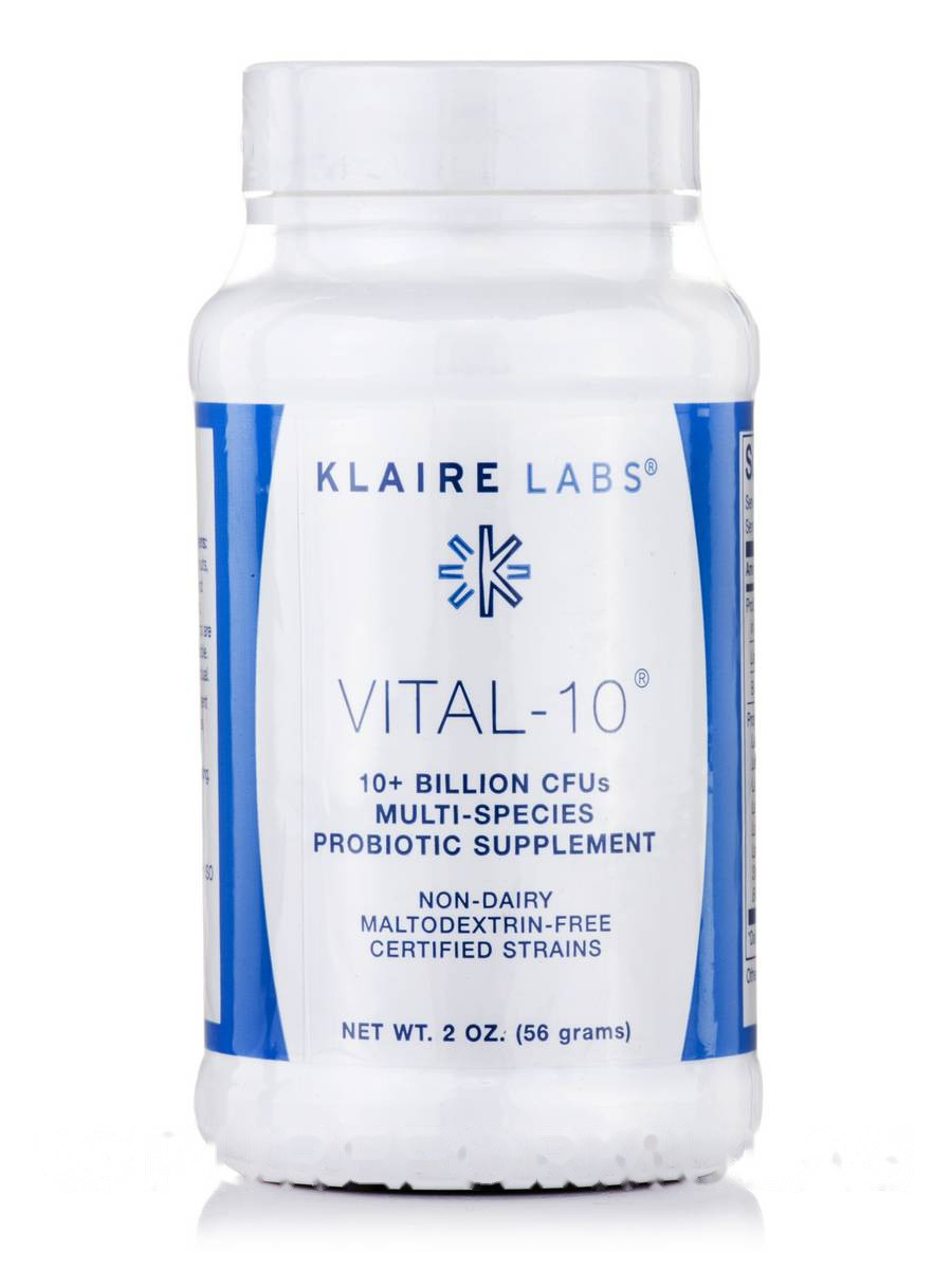 Витал-10, Vital-10, Klaire Labs, 2 ун (56 Грамм)