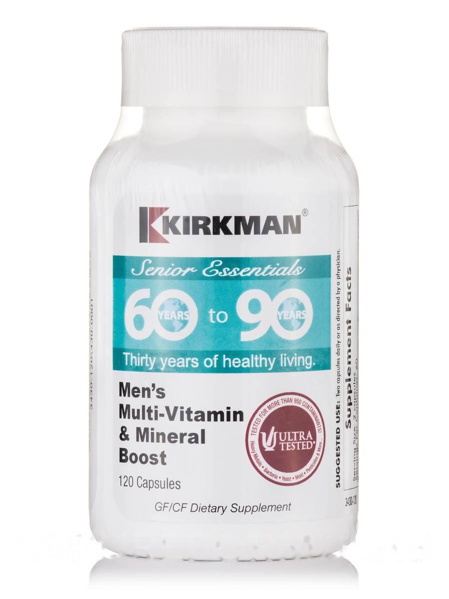 60- 90 Мужской Мульти-витамин & Минералы повышенные, 60 to 90 Men's Multi-Vitamin & Mineral Boost, Kirkman