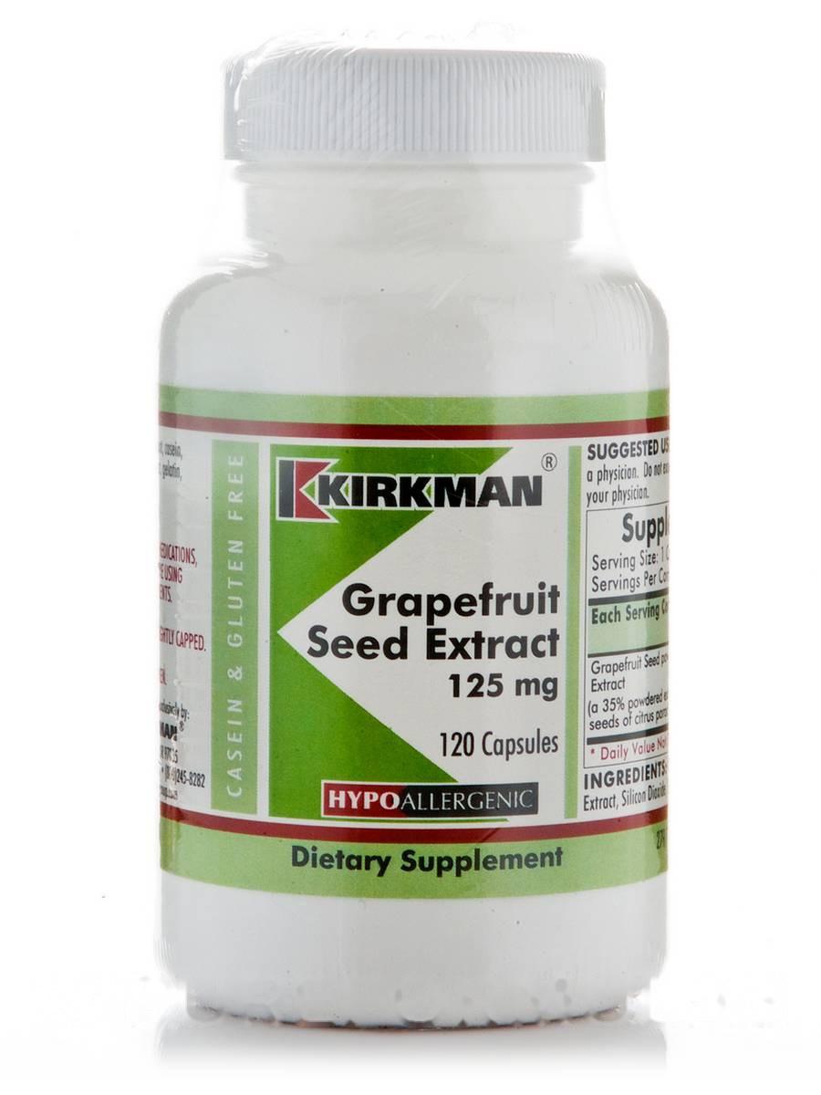 Екстракт насіння грейпфрута 125 мг - гіпоалергенний, Grapefruit Seed Extract 125 mg -Hypoallergenic, Kirkman