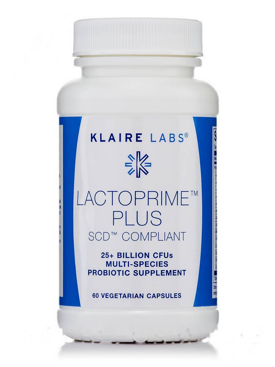 Лактоприм Плюс SCD Совместимый, Lactoprime Plus SCD Compliant, Klaire Labs, 60 Вегетарианских Капсул