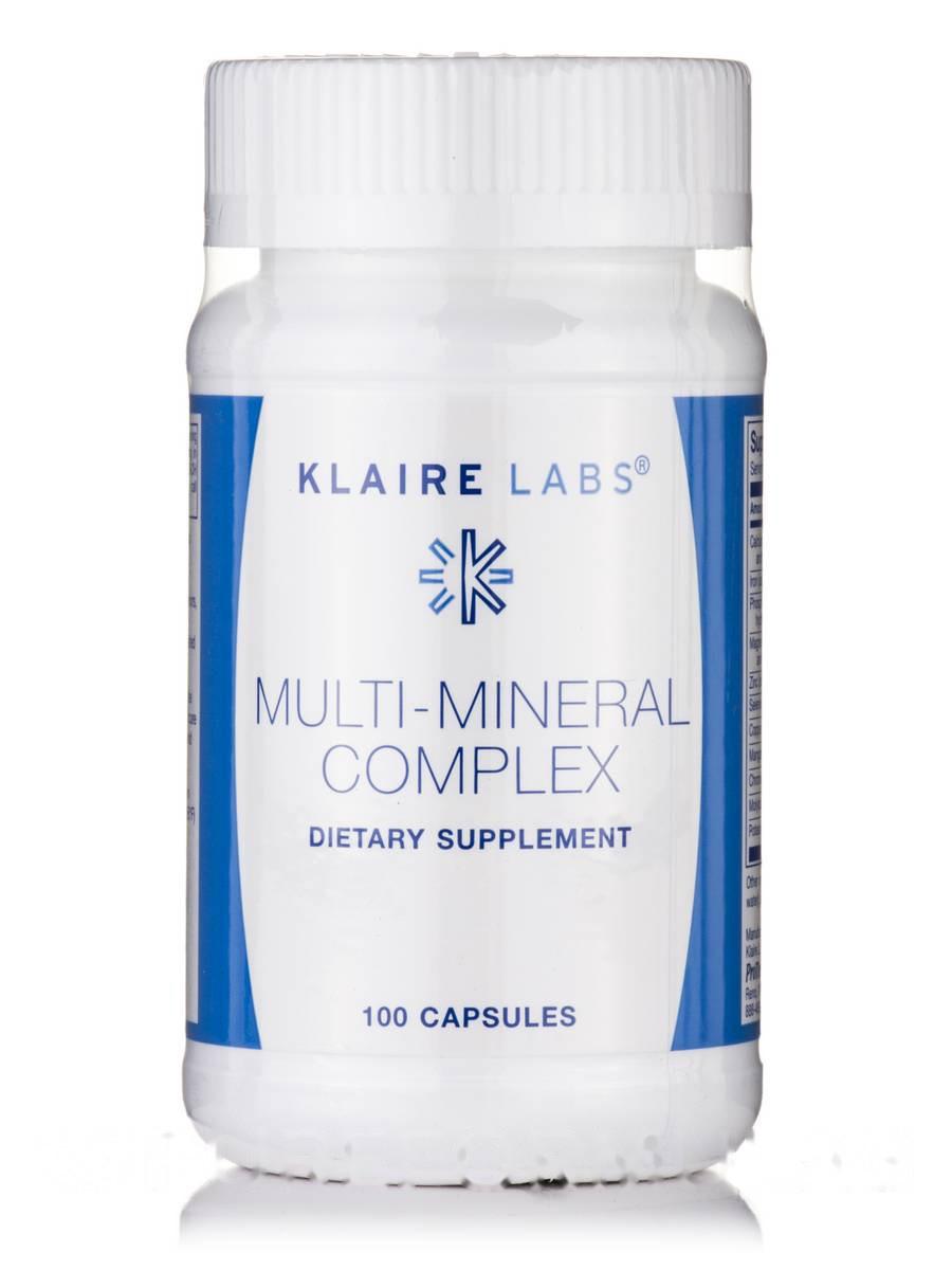 Мульти-Минерал Комплекс, Multi-Mineral Complex, Klaire Labs, 100 Капсул