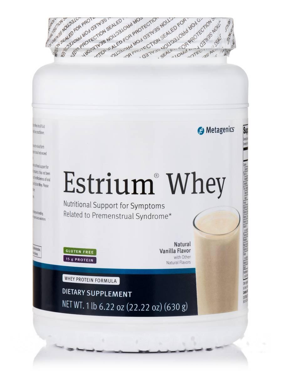 Эстриум WHEY Натуральна Ваніль, Estrium Natural WHEY Vanilla, Metagenics, 22.22 ун (630 грам)