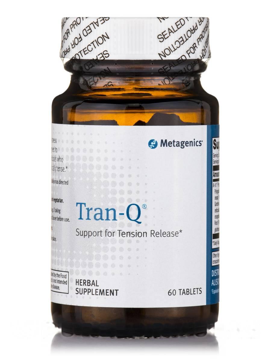Тран-Q, Tran-Q 60, Metagenics, 60 Таблеток