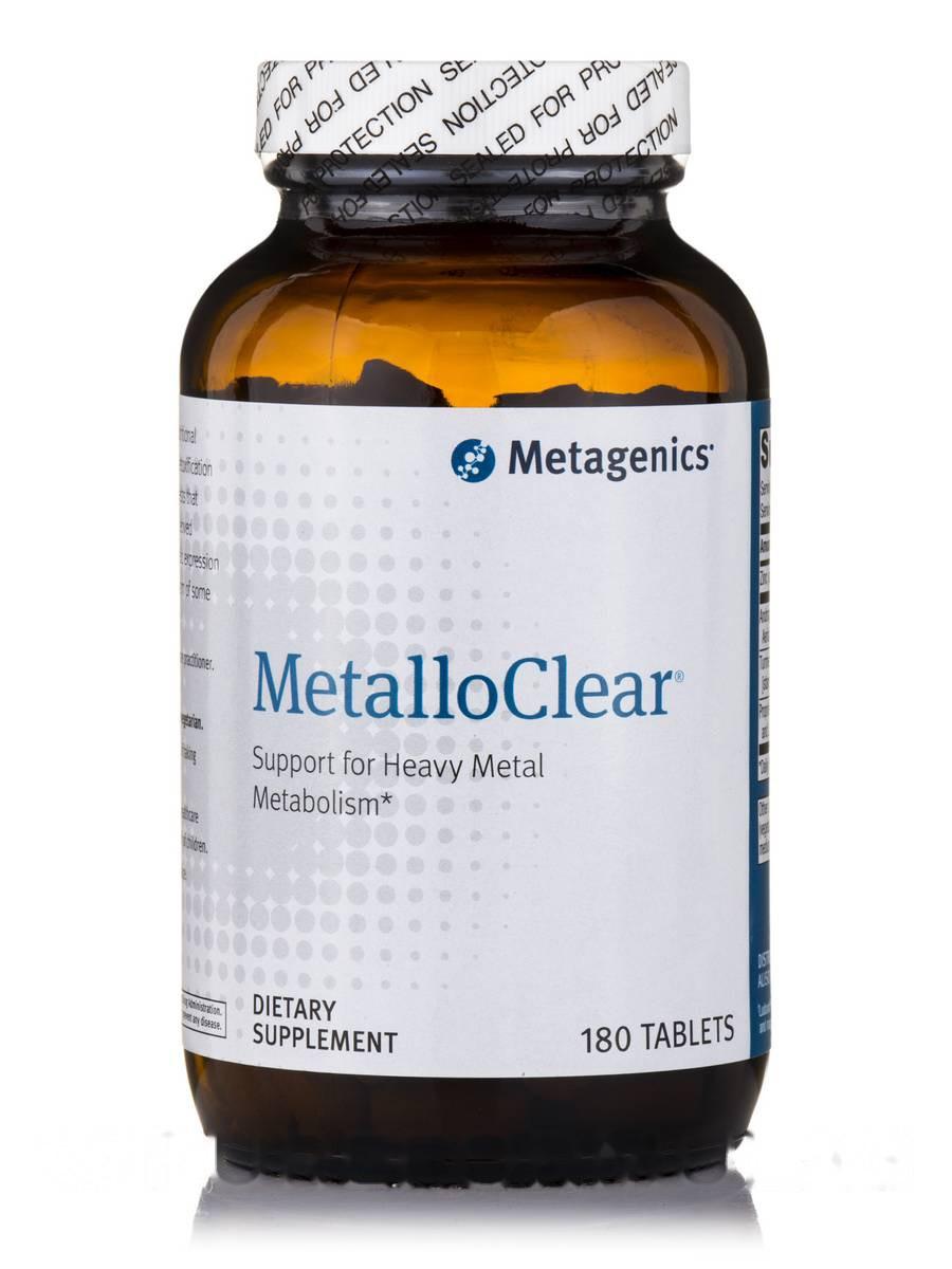 Тяжелый металл, MetalloClear, Metagenics, 180 Tаблеток