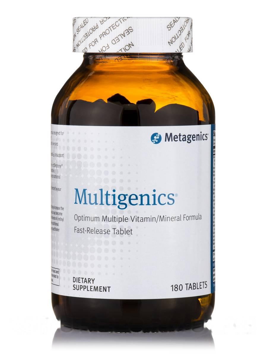 Мультигеники, Multigenics, Metagenics, 180 таблеток