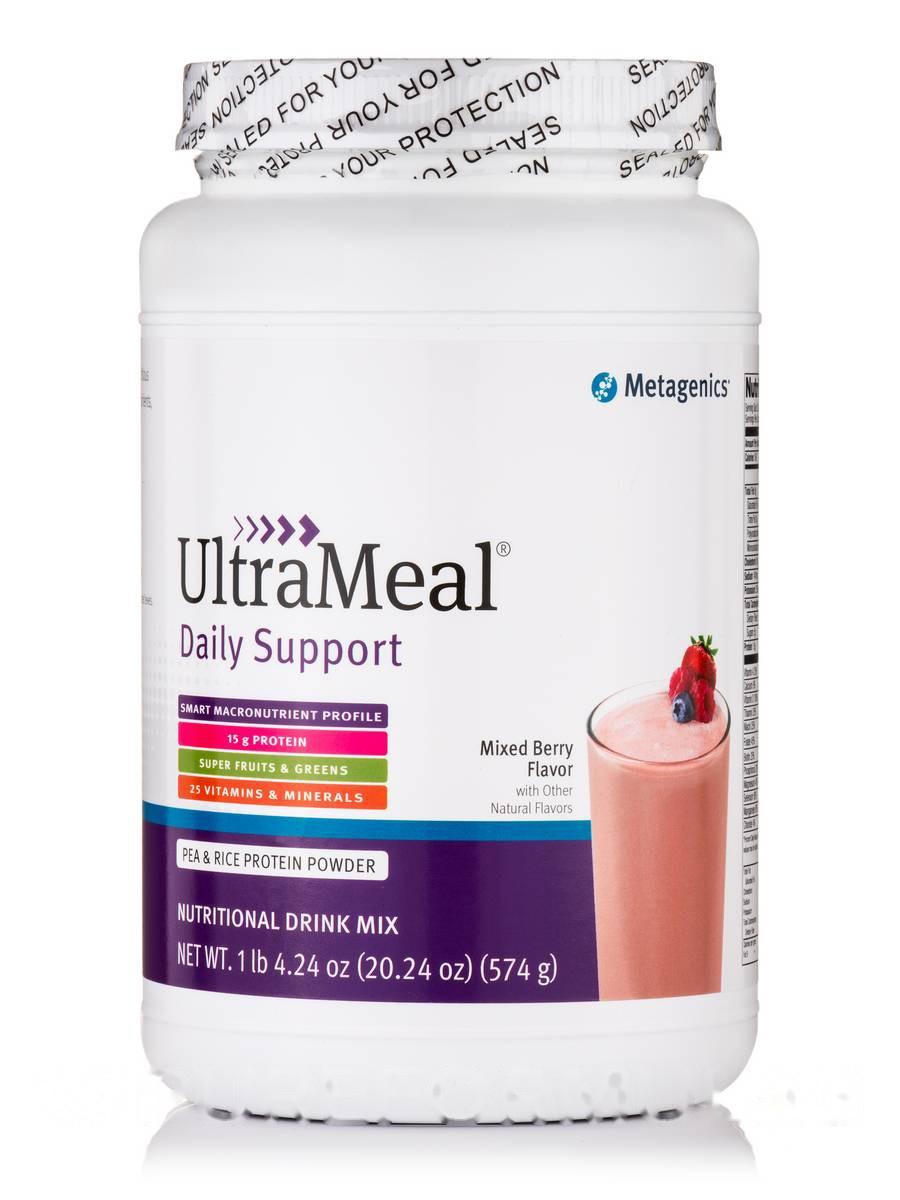 Ультра Питание Ежедневная поддержка, Смешанная ягода, UltraMeal Daily Support Mixed Berry, Metagenics, 20.24