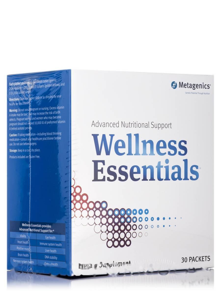 Велнес-Есенція, Wellness Essentials, Metagenics, Коробка з 30 пакетів