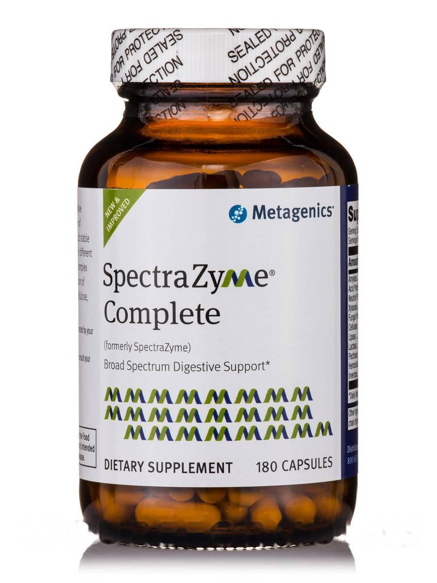 СпектраФермент Комплекс, SpectraZyme Complete, Metagenics, 180 Капсул