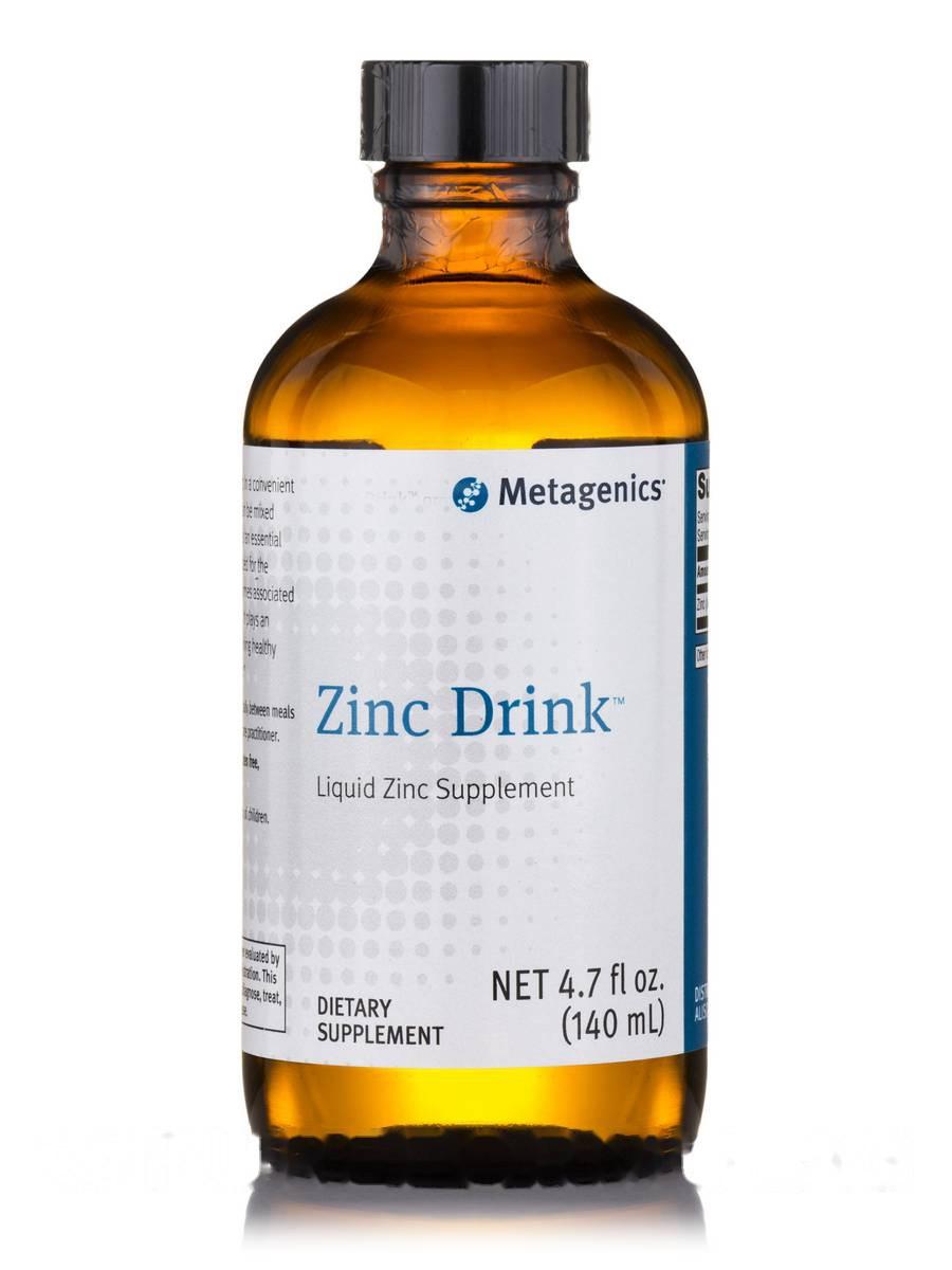 Цинковий напій, Zinc Drink, 4, Metagenics, 7 л. oz (140 мл)