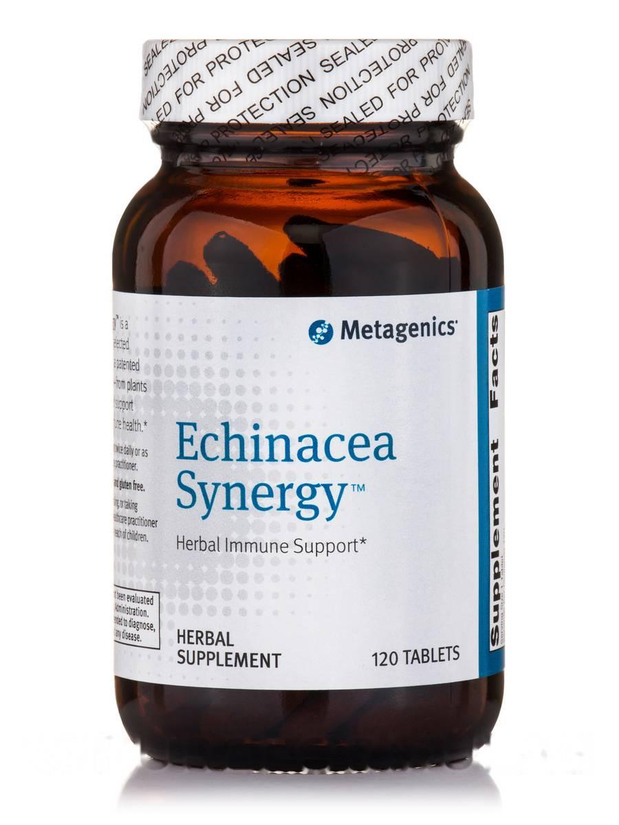 Ехінацея Синергія, Echinacea Synergy, Metagenics, 120 таблеток