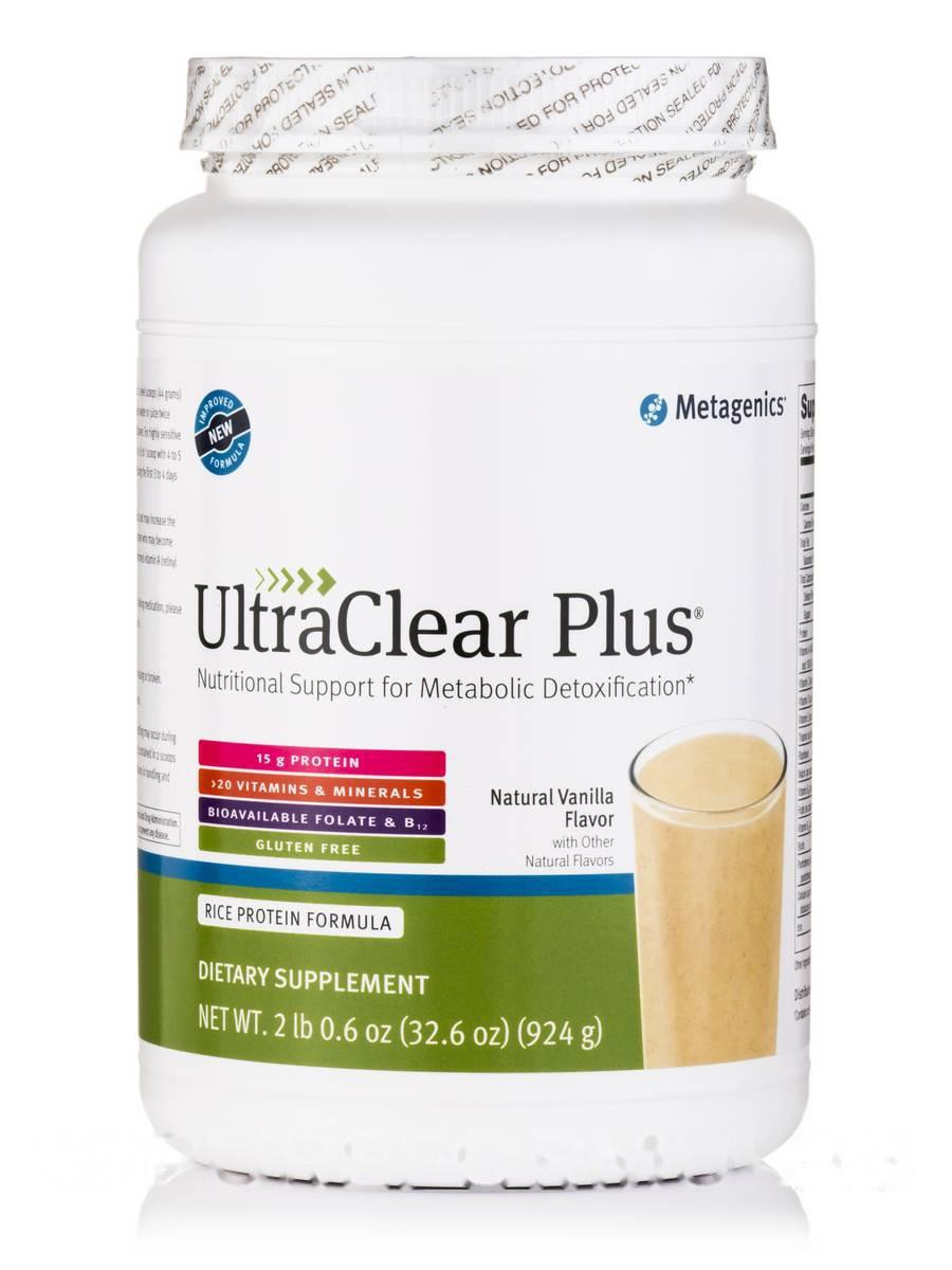 Ультра Терапия ПЛЮС (Натуральный ванильный вкус), UltraClear PLUS (Natural Vanilla Flavor), Metagenics, 32.6