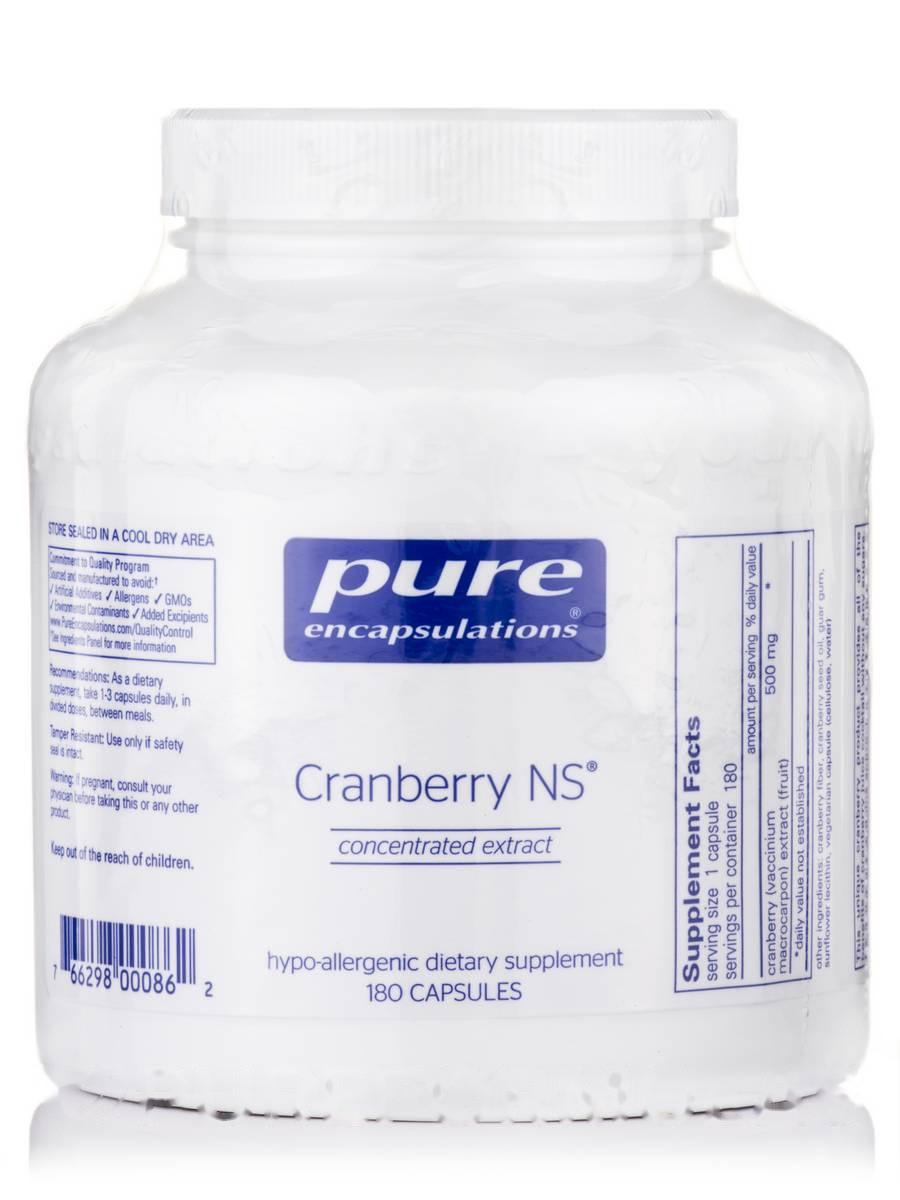 Клюква НС, Cranberry NS, Pure Encapsulations, 180 капсул