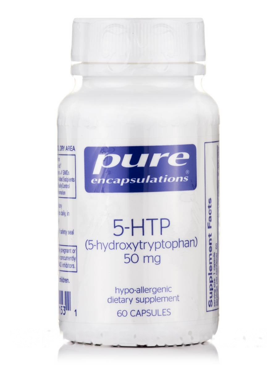 5-HTP (5-Гідроксітріптофан) 5-HTP (5-Hydroxytryptophan), Pure Encapsulations, 50 мг 60 капсул