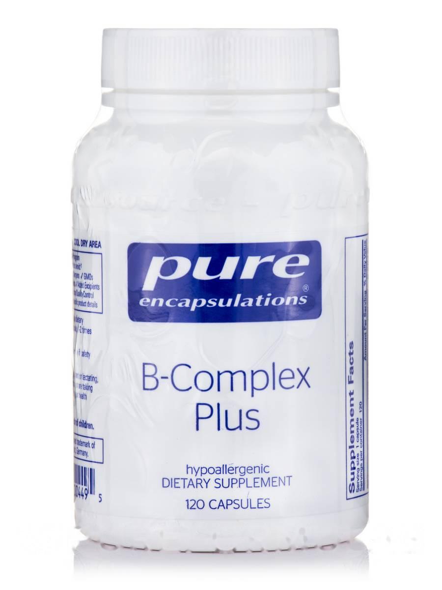 B-Комплекс Плюс, B-Complex Plus, Pure Encapsulations, 120 Капсул