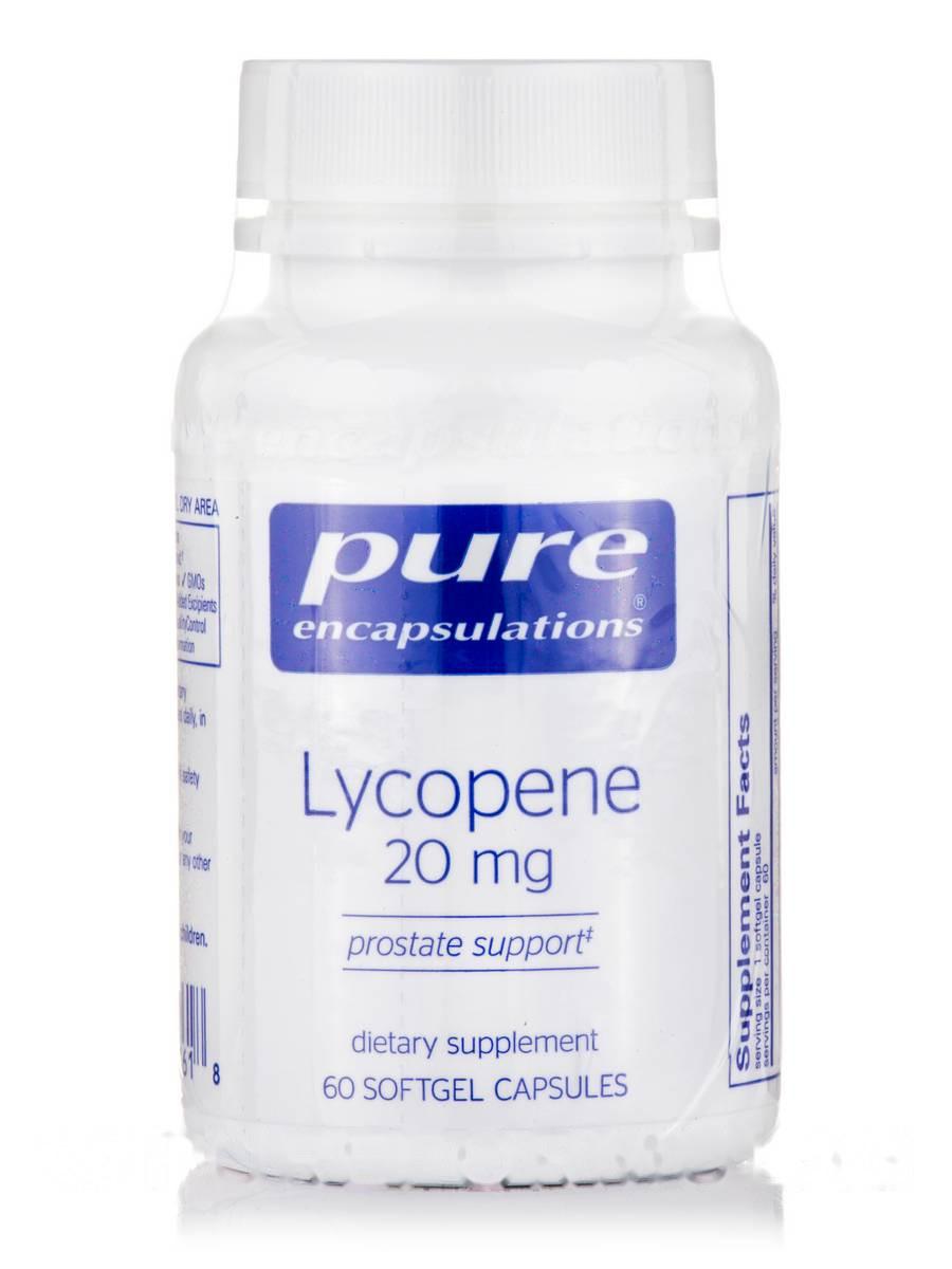 Лікопін 20 мг, Lycopene, Pure Encapsulations, 60 капсул
