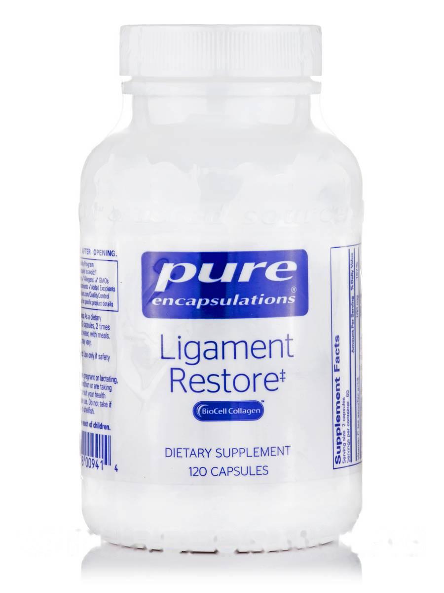 Восстановление связок, Ligament Restore, Pure Encapsulations, 120 капсул