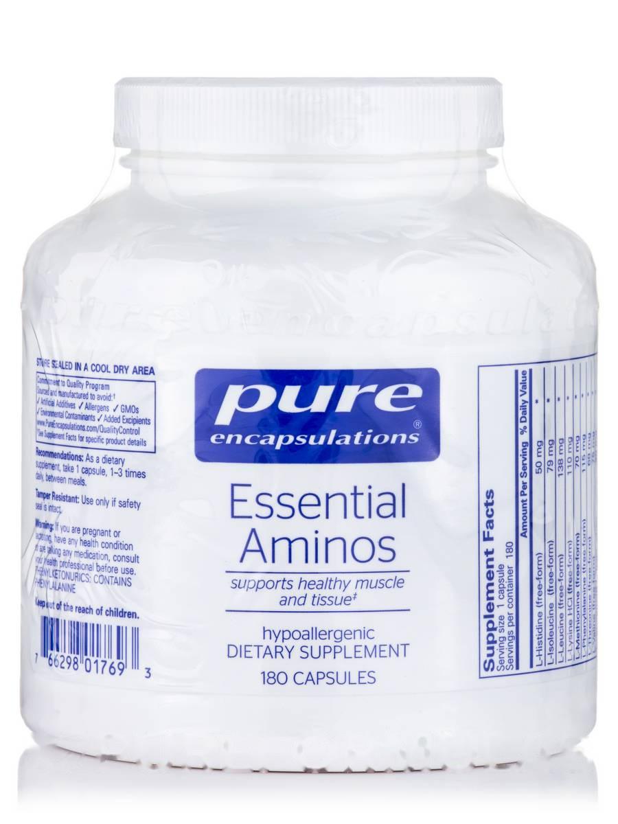 Основной Аминопласт, Essential Aminos, Pure Encapsulations, 180 Капсул