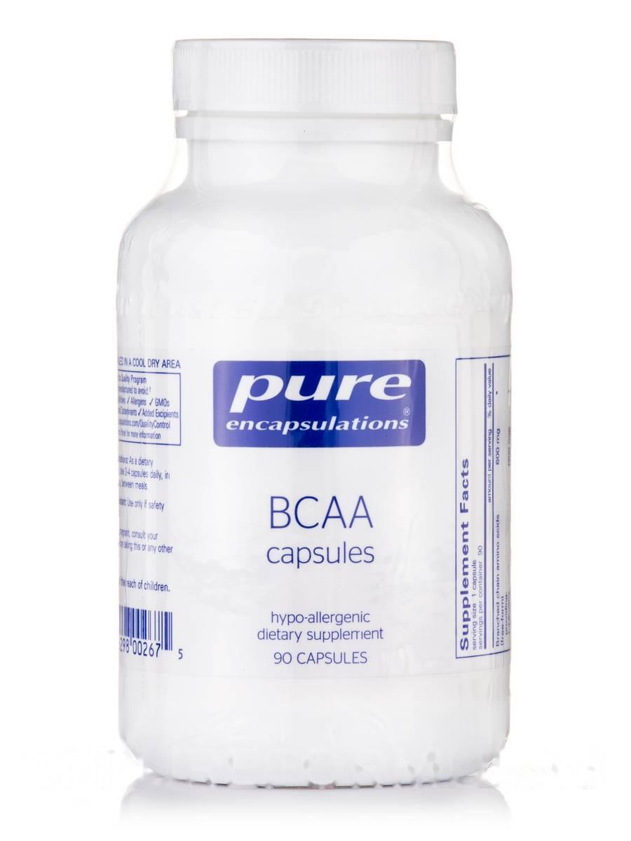 ВКАА Капсули, BCAA, Pure Encapsulations, 90 Капсул