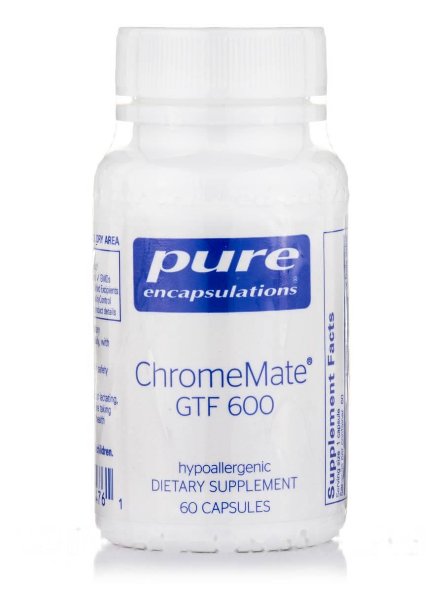 Хром GTF 600, ChromeMate GTF, Pure Encapsulations, 60 Капсул