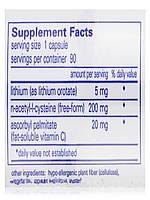 Литий (оротат) 5 мг, Lithium (Orotate), Pure Encapsulations, 90 капсул, фото 5