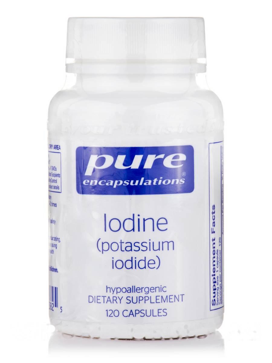Йод (йодид калію), Iodine (Potassium Iodide), Pure Encapsulations, 120 капсул