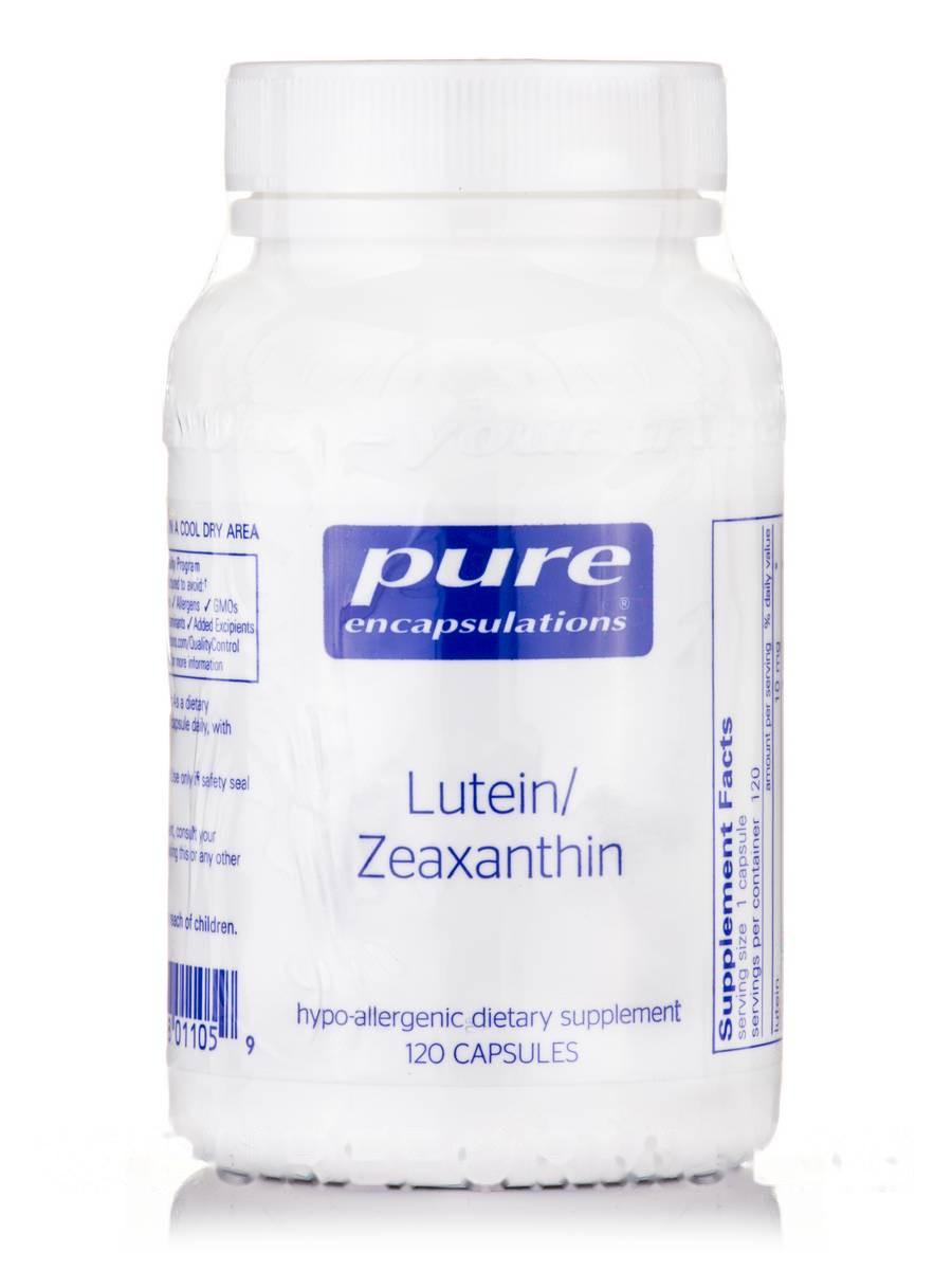 Лютеїн/зеаксантин, Lutein Zeaxanthin, Pure Encapsulations, 120 Капсул