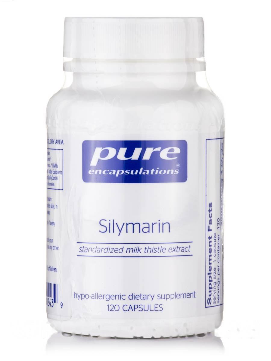 Силимарин (экстракт молочного чертополоха), Silymarin (Milk Thistle Extract), Pure Encapsulations, 120 капсул