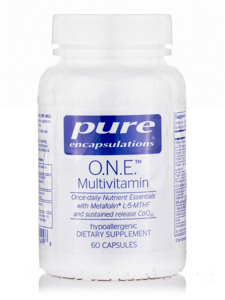O. Н.E. Мультивітамін, O. N. E. Полівітаміни, Pure Encapsulations, 60 Капсул