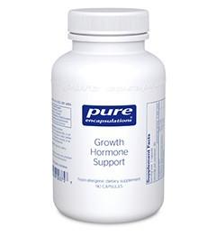 Поддержка гормонов роста, Growth Hormone Support, Pure Encapsulations, 90 Капсул