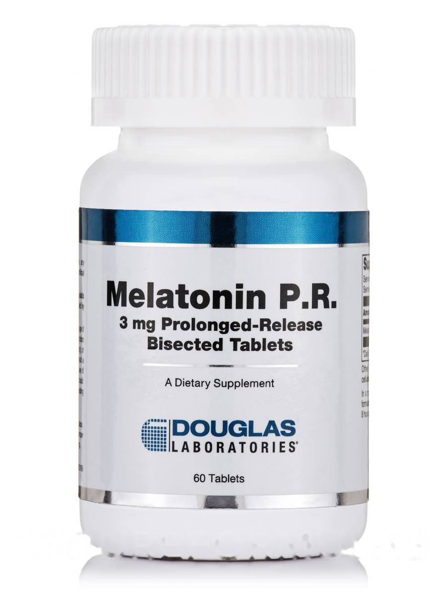 Мелатонин 3 мг, Melatonin, Douglas Laboratories, 60 таблеток