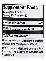 Мелатонин 3 мг, Melatonin, Douglas Laboratories, 60 таблеток, фото 5