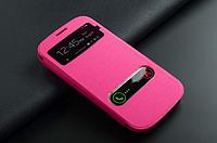 Розовый флип с окошками для Samsung S3 и S3 duos